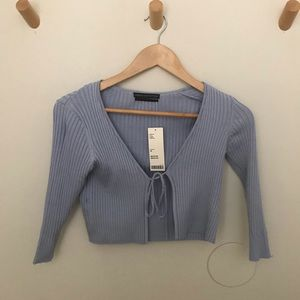 Urban Outfitters Periwinkle Crop Top Tie Front